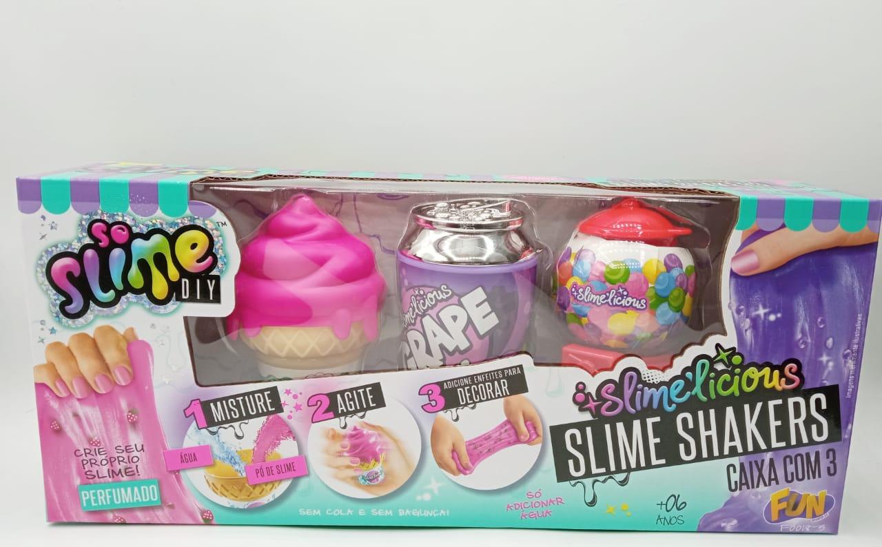 Kit Com 3 Slime Diy Slime Shakers Sorvete Refrigerante Chiclete