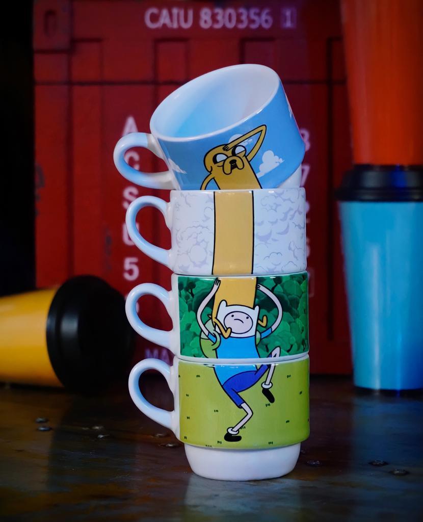 Kit Com 4 Canecas Finn e Jake: Hora De Aventura Adventure Time - EV