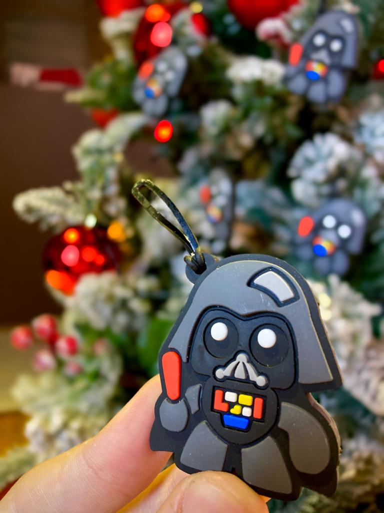 Kit Com 5 Enfeites Árvore de Natal Geek Darth Vader: Star Wars