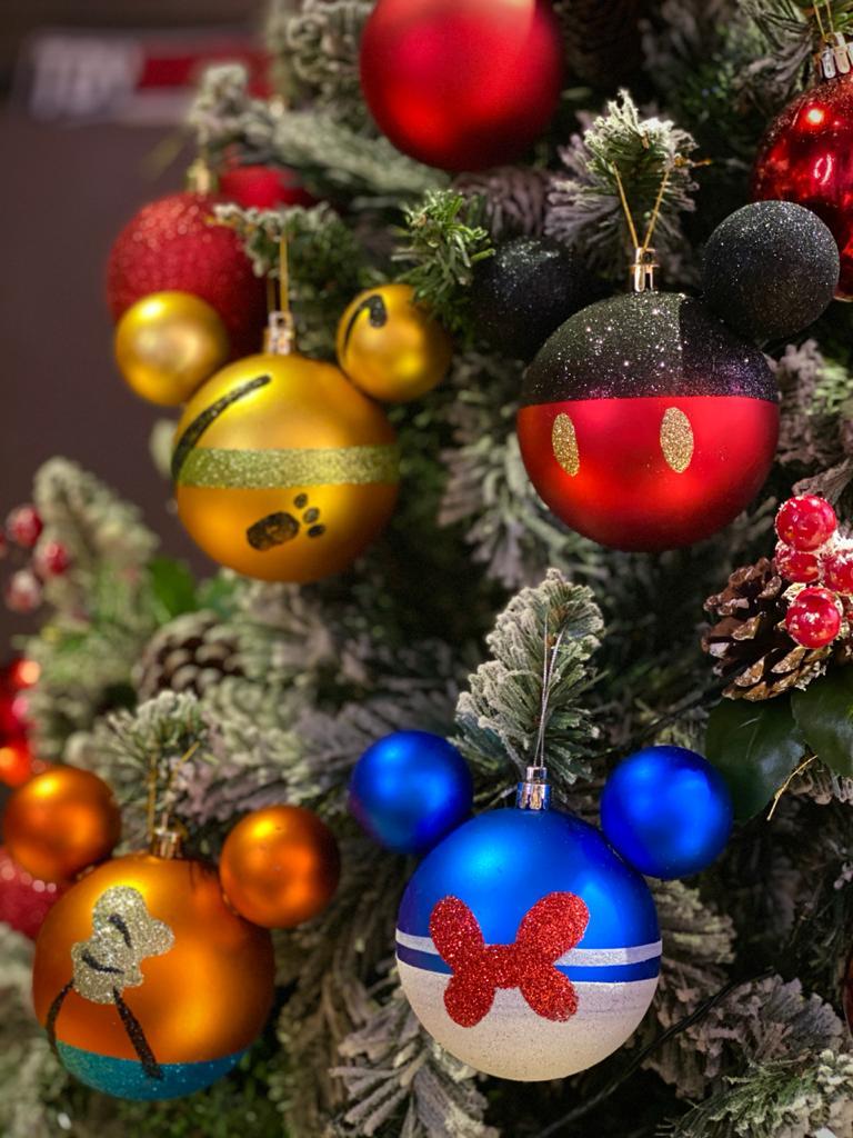 Kit Com 4 Enfeites Árvore de Natal Geek Mickey Mouse House: Disney