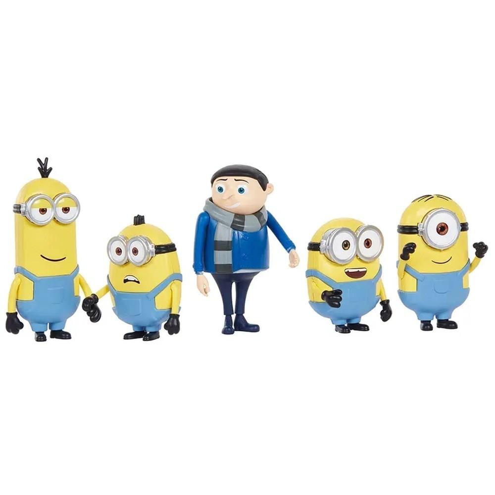 Kit Com 5 Bonecos Clássicos Minions: Minions (Rise Of Gru) - Mattel