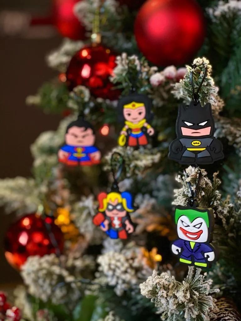 Kit Com 5 Enfeites Árvore de Natal Geek