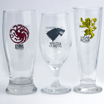 Kit Copos de Cerveja: Brasão Game Of Thrones (3 copos) - Zonacriativa