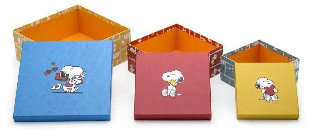Kit de Caixas Snoopy Comics