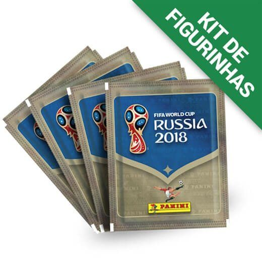 Kit de Figurinhas Copa do Mundo Rússia 2018 (12 Envelopes) - Panini