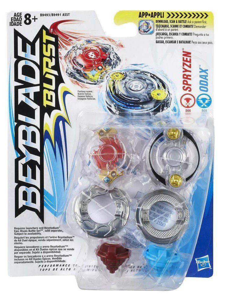 Kit Duplo Beyblade Burst: Spryzen & Odax - Hasbro
