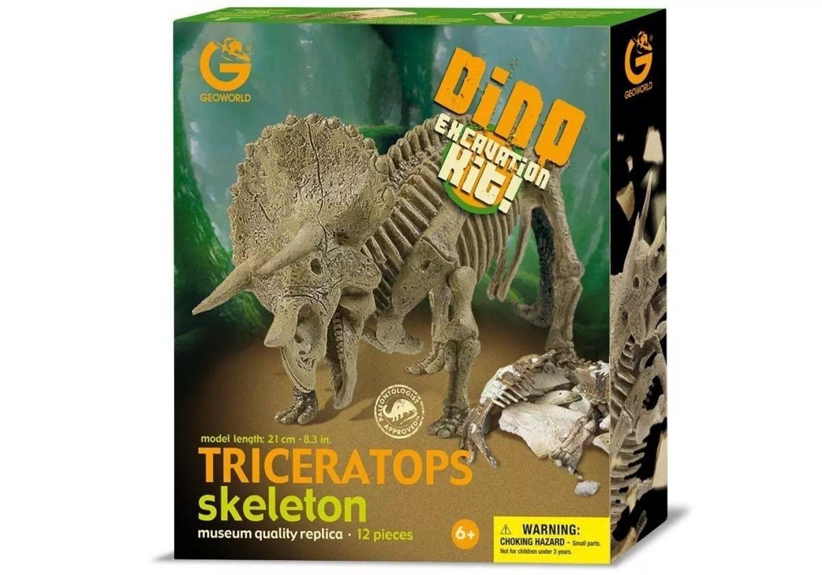 Kit Escavação Dinossauro Triceratops - Geoworld