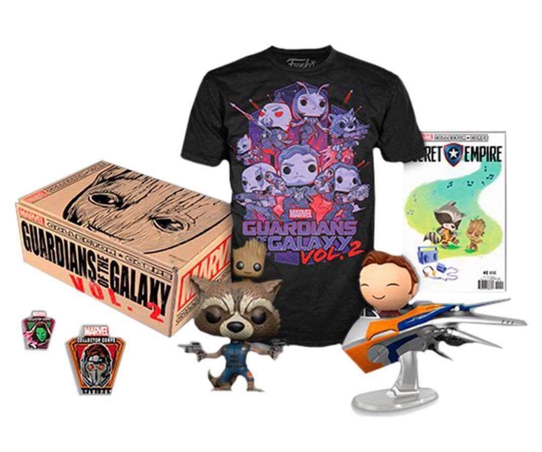 Funko Kit Exclusivo Pop! Funko: Collector Corps: Guardiões da Galáxia Vol 2 (Guardians of the Galaxy Vol 2) - Funko