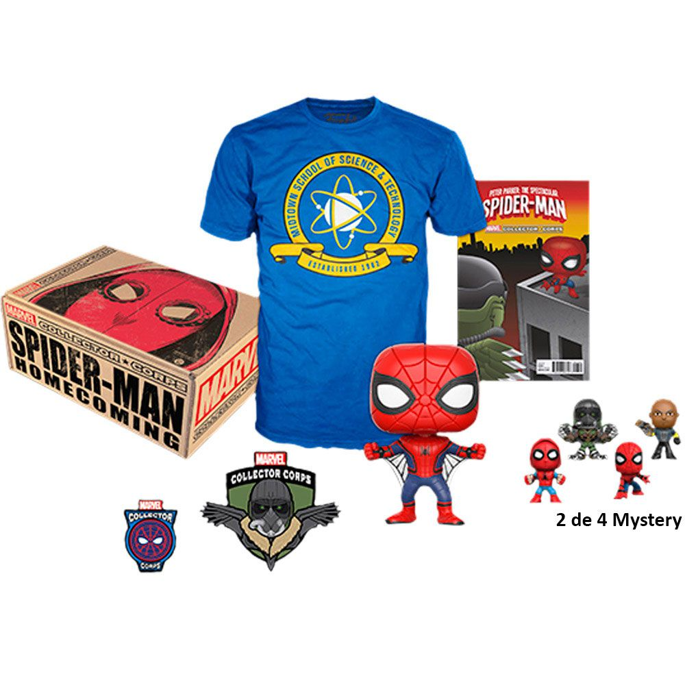 Funko Kit Exclusivo Pop! Funko Collector Corps Marvel: Homem-Aranha De Volta ao Lar (Spider-Man Homecoming) - Funko