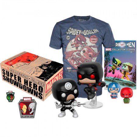 Kit Exclusivo Pop! Funko Collector Corps Marvel: Super Hero Showdowns - Funko