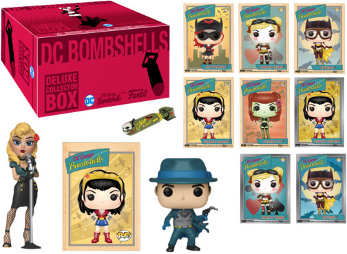 Kit Exclusivo Pop! Funko Deluxe Collector Box: DC Bombshells - Funko