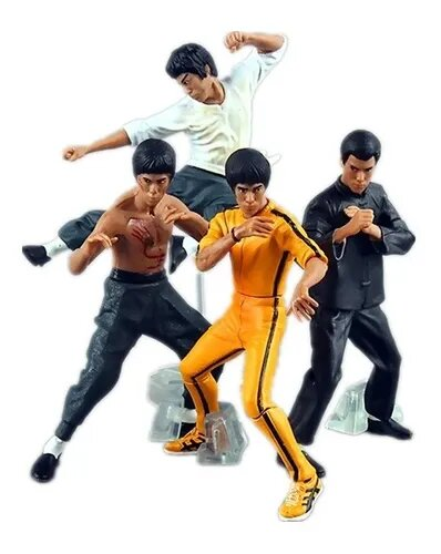 Kit Mini Figuras Bruce Lee: Desdly Mission, Flexibe Tiger, Intercepting Fist, Rising Dragon
