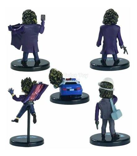 "Kit Mini Figuras Coringa ""Joker"" (Heath Ledger): Batman o Cavaleiro Das Trevas"