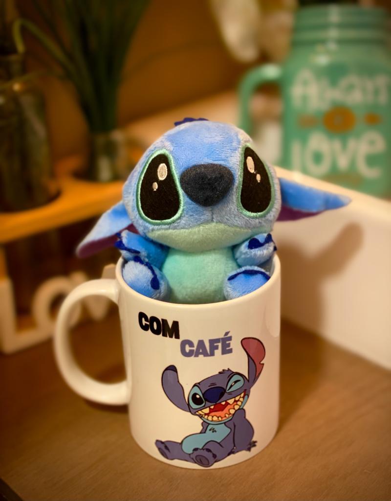 Kit Pelúcia e Caneca Stitch (Com Café, Sem Café): Lilo E Stitch - EV