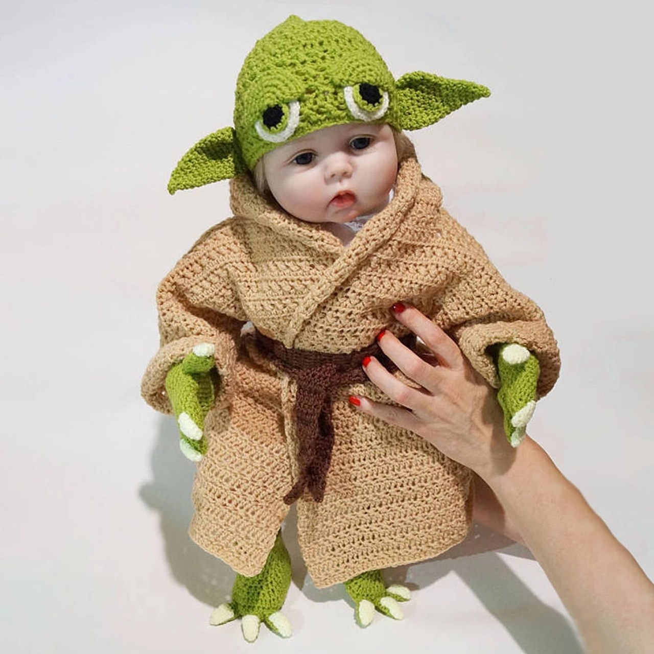 Kit Traje De Bebe Recém-Nascido Baby Yoda Star Wars - EVALI