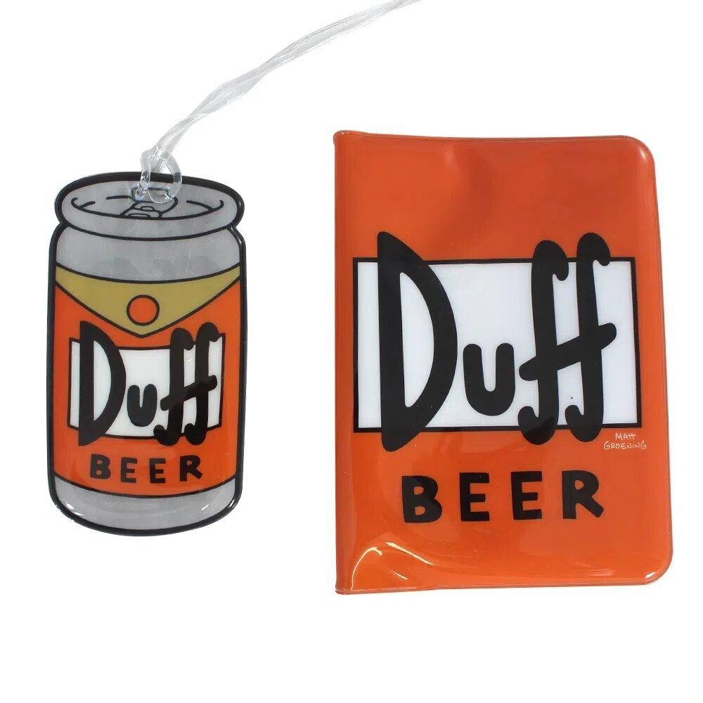 "Kit Viagem TAG e Passaporte ""Duff Beer"": Os Simpsons - Zona Criativa"