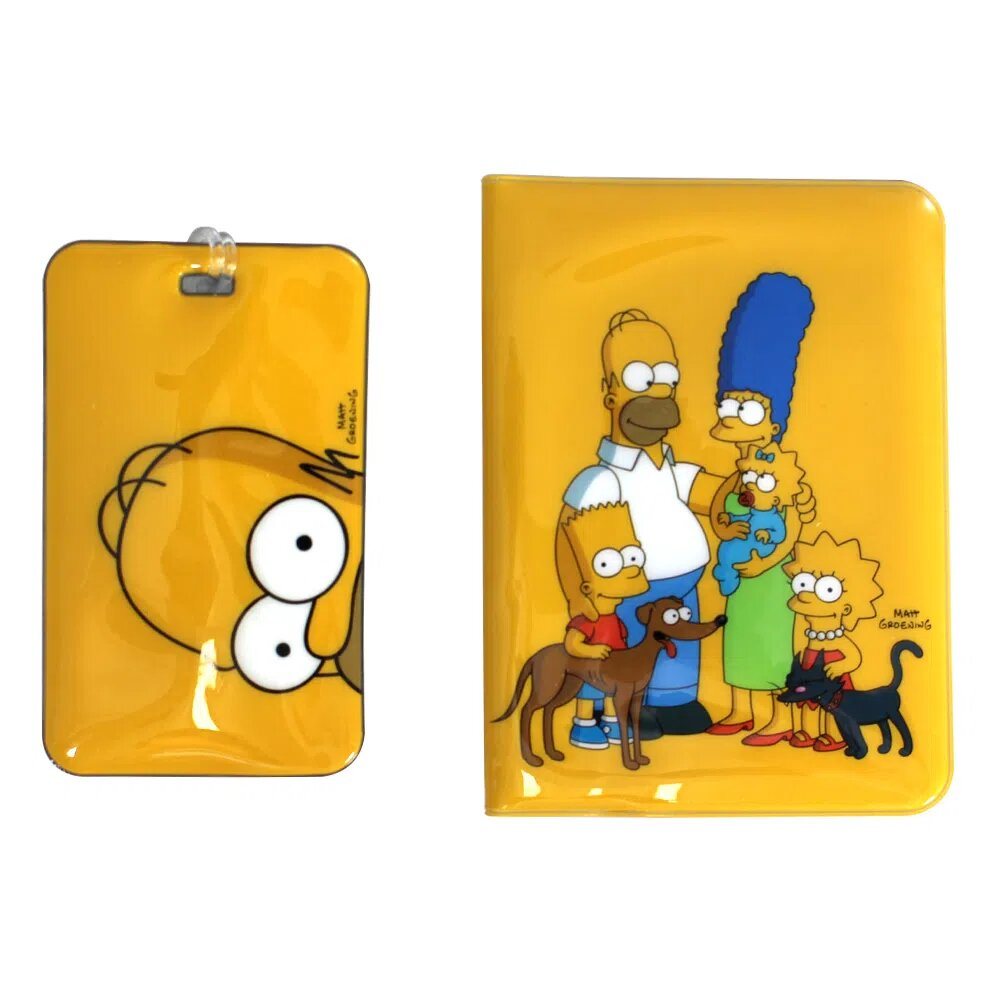 "Kit Viagem TAG e Passaporte ""Família Simpsons"": Os Simpsons - Zona Criativa"