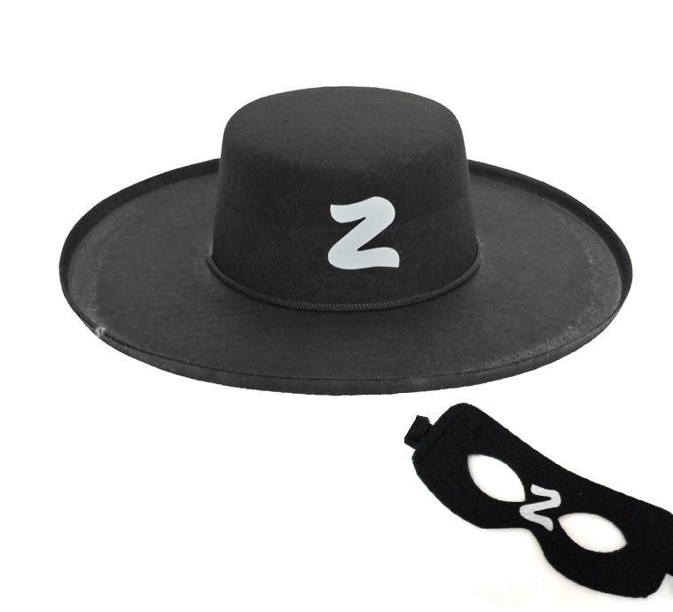 Kit Zorro - Acessório de Fantasia