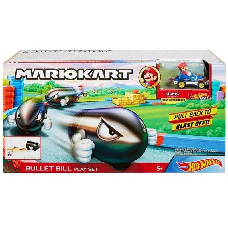 Pista Lançador e Mini Veiculo: Mario Kart - Hot Wheels