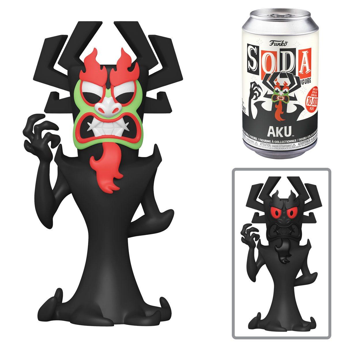 PRÉ VENDA: Lata Pop! Aku: Samurai Jack Vinyl Soda: ( Edição Limitada) - Funko