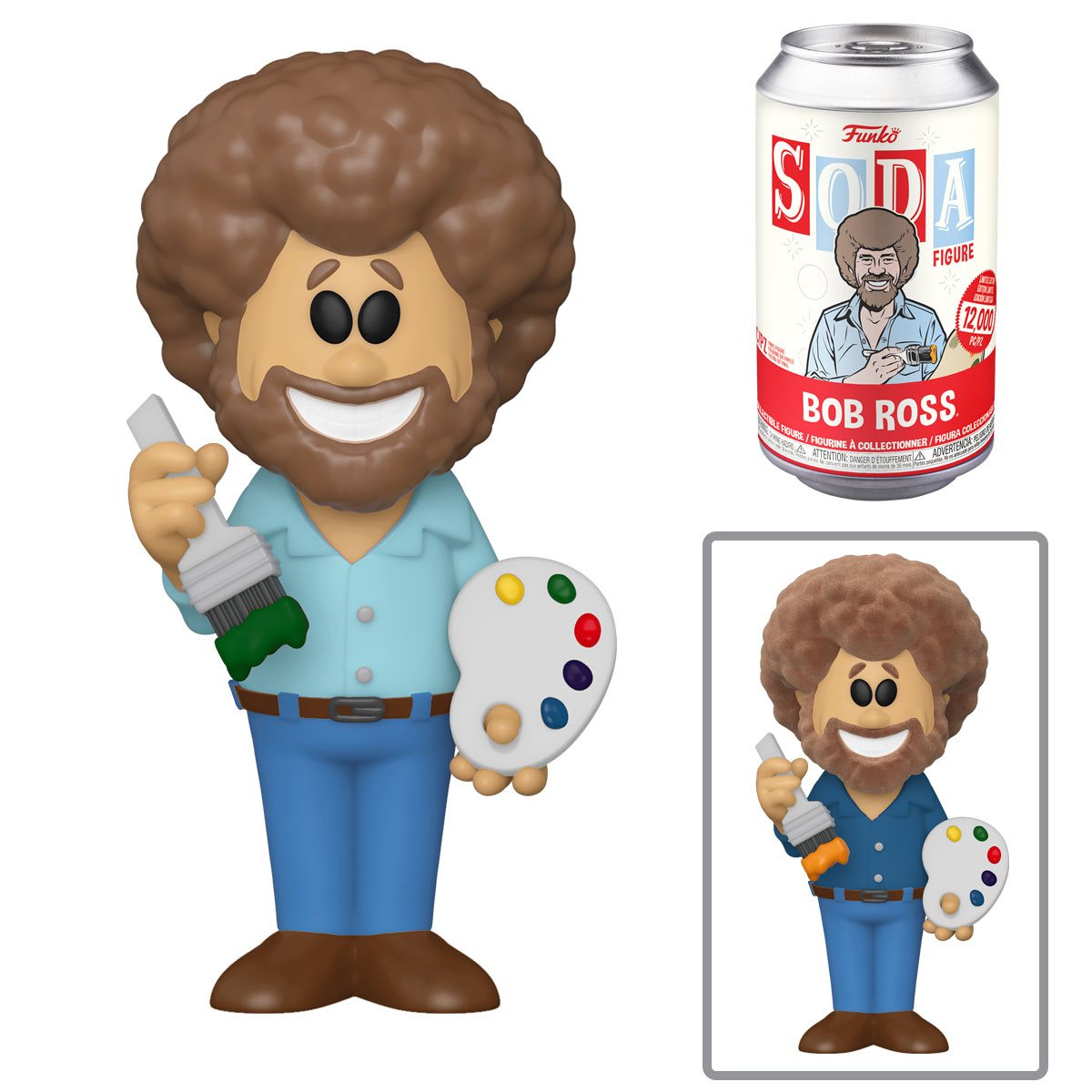 PRÉ VENDA: Lata Pop! Bob Ross: The Joy of Painting Vinyl Soda: ( Edição Limitada) - Funko