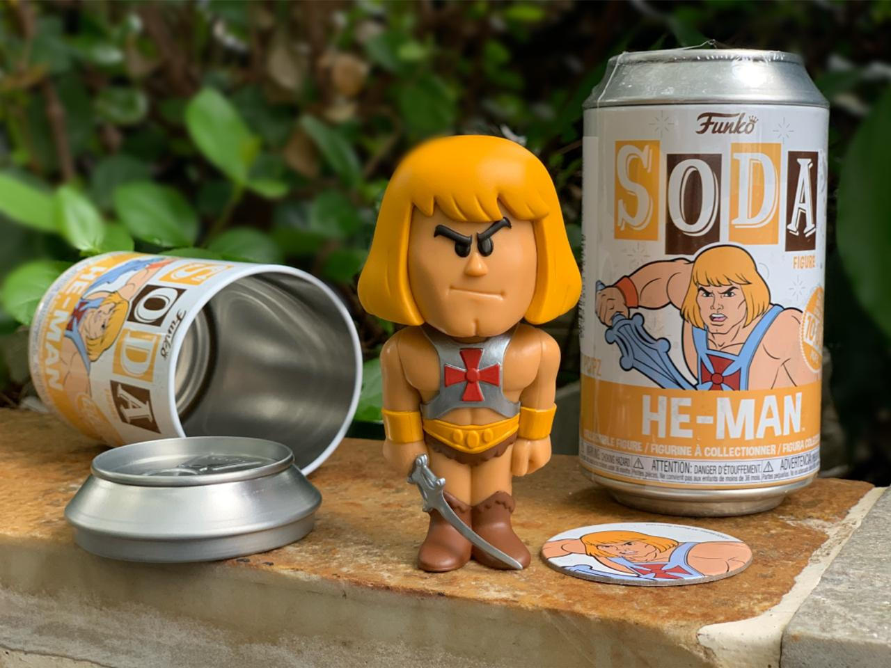 Funko Lata Pop: Masters of The Universe: He-Man: Mestres do Universo: (Vinyl Soda) (Edição Limitada) - Funko