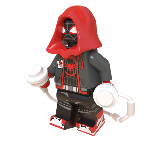 LEGO Spider-Man Miles Morales (Primeiro Uniforme) - Spider-Man ''Spider-verse''