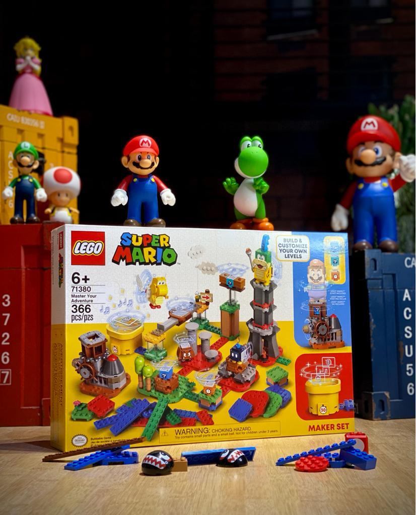LEGO Super Mario Pacote de criação Maker Set - Domine sua aventura 366 Peças: Super Mario Bros - Lego