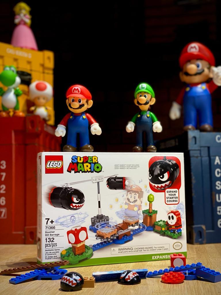 LEGO Super Mario Pacote de expansão - Bombardeio de Bill Balaços 132 Peças: Super Mario Bros - Lego