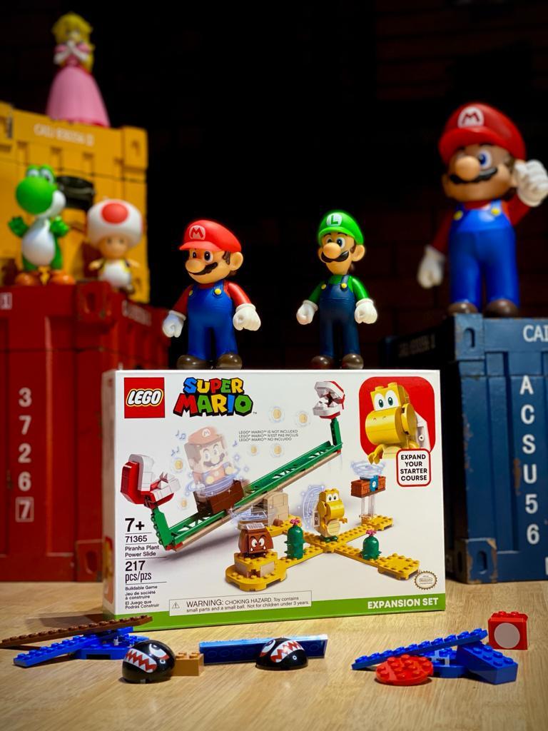 LEGO Super Mario Pacote de Expansão - Derrapagem da Planta Piranha 217 Peças: Super Mario Bros - Lego