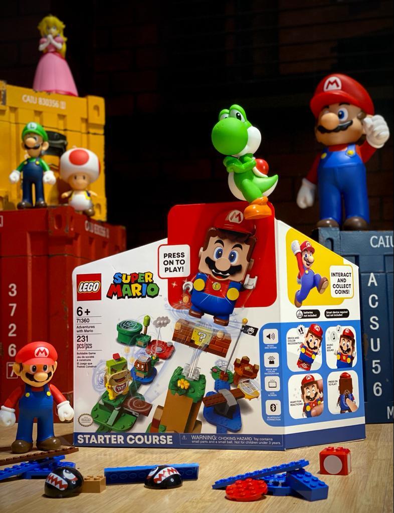LEGO Super Mario Pacote Inicial Starter Course - Aventuras com Mario 231 Peças: Super Mario Bros - Lego