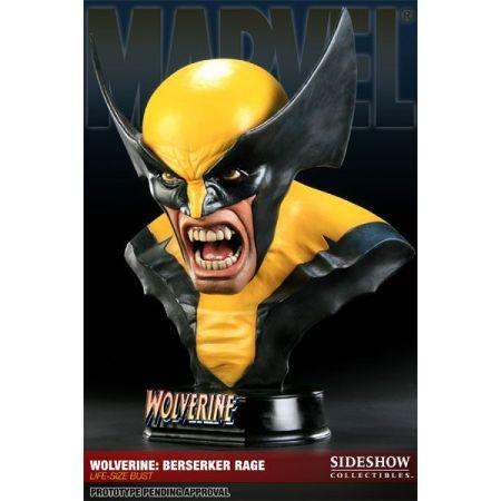 Life-Size Bust Wolverine Berserker Rage - Sideshow