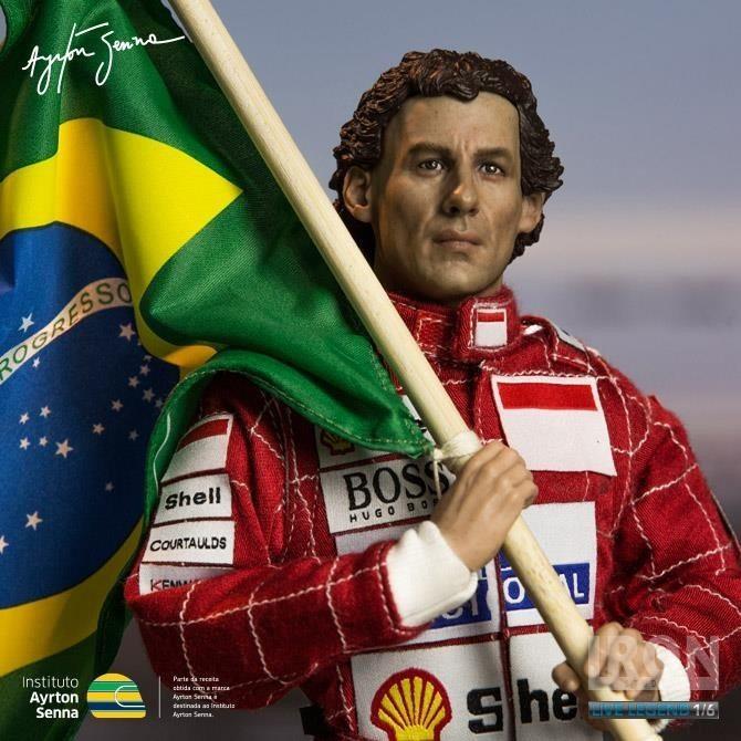 Action Figure Ayrton Senna 1993 Brazil Grand Prix 1/6 Live Legend (Boneco Colecionável) - Iron Studios