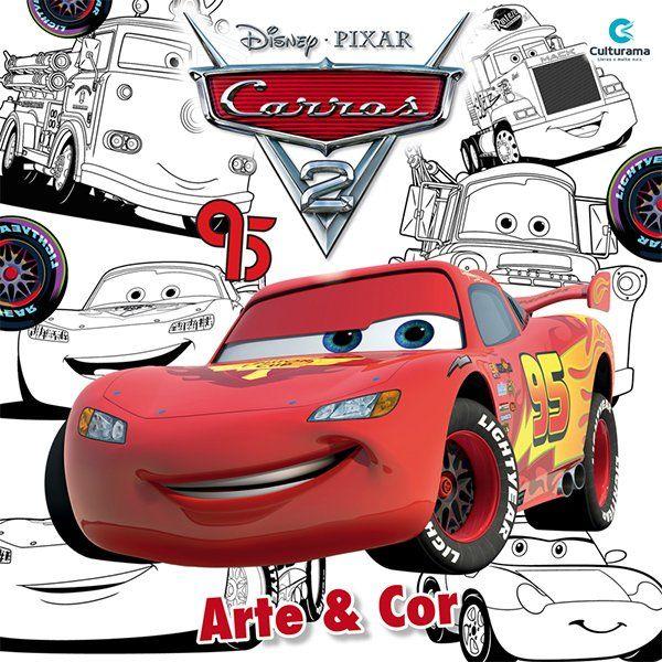 Livro Arte & Cor Carros 3: Disney/Pixar