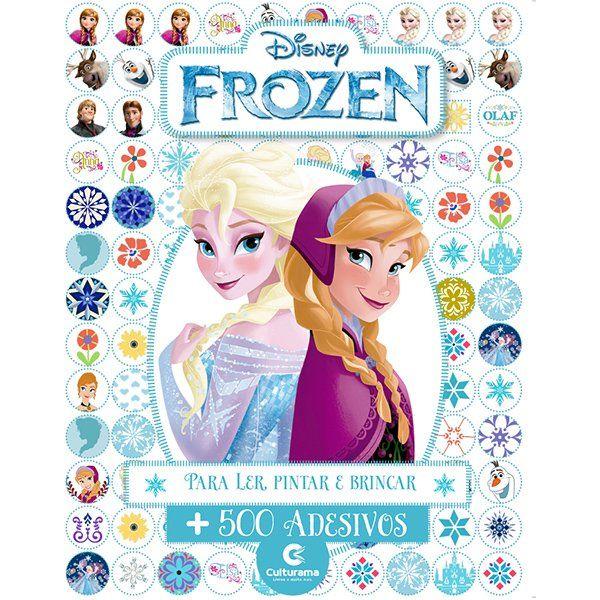 Livro de Atividades e 500 Adesivos Frozen: Disney