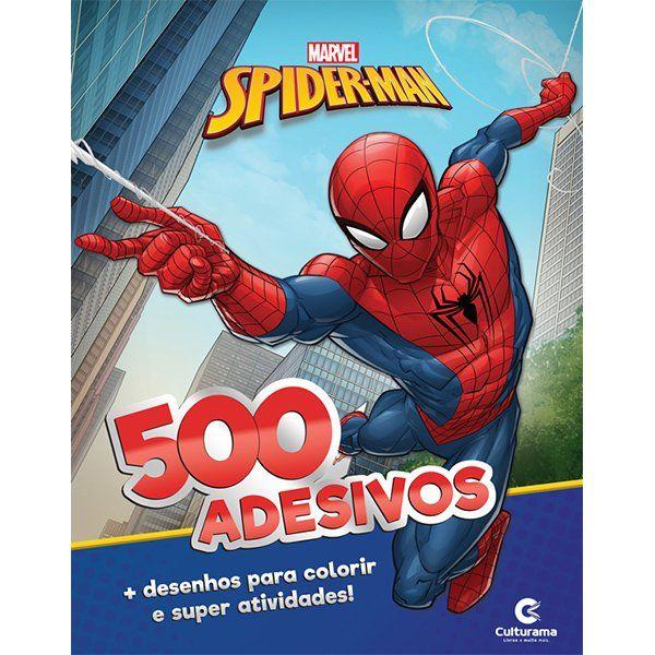 Livro de Atividades e 500 Adesivos Spider-Man: Marvel