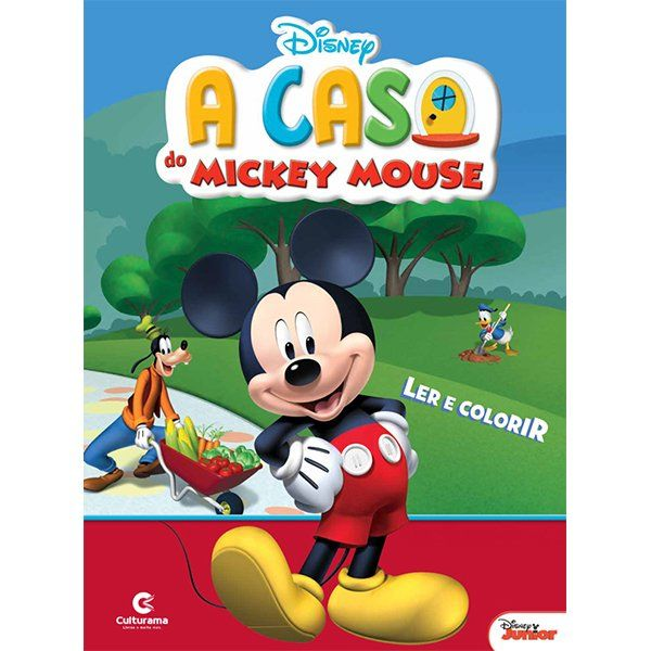 Livro Ler e Colorir A Casa do Mickey Mouse: Disney - (Grande)