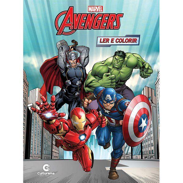 Livro Ler e Colorir Avengers: Marvel - (Médio)