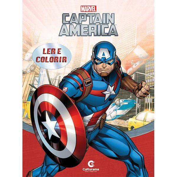 Livro Ler E Colorir Capitao America Marvel Grande Toyshow