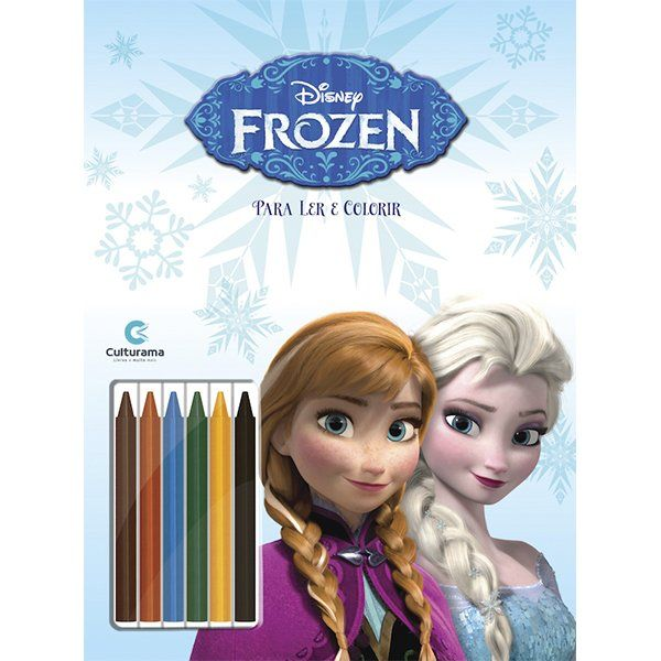 Livro Ler e Colorir com Lápis de Cor Frozen: Disney
