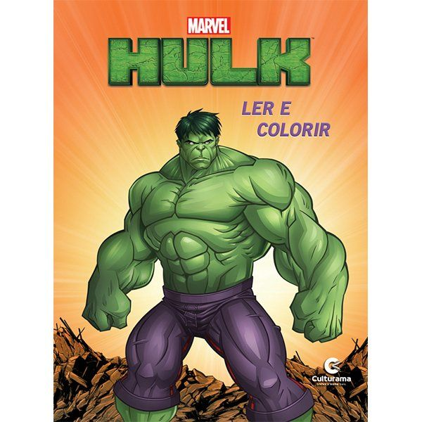 Livro Ler e Colorir Hulk: Marvel - (Grande)