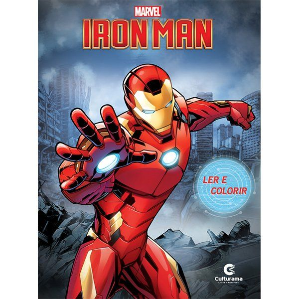 Livro Ler e Colorir Iron Man: Marvel - (Grande)