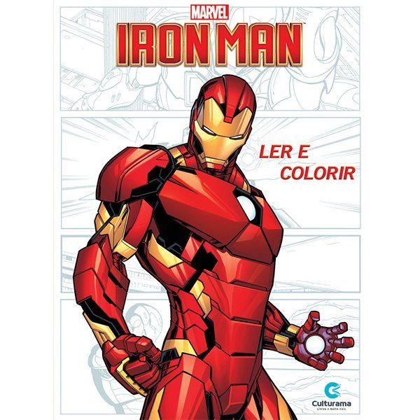 Livro Ler e Colorir Iron Man: Marvel - (Médio)