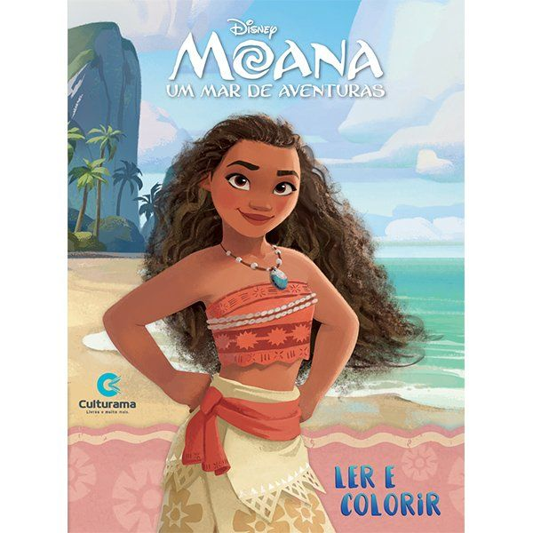 Livro Ler e Colorir Moana: Disney - (Médio)