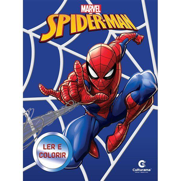 Livro Ler e Colorir Spider-Man: Marvel - (Médio)