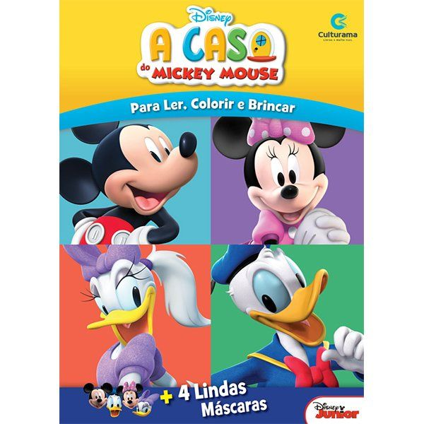 Livro Máscaras Divertidas A Casa do Mickey Mouse: Disney - (Grande)