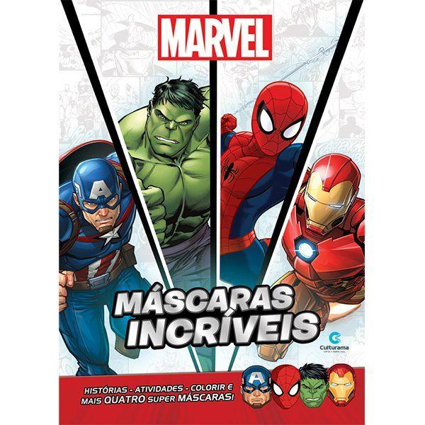 Livro Máscaras Incríveis Heróis da Marvel: Marvel - (Grande)
