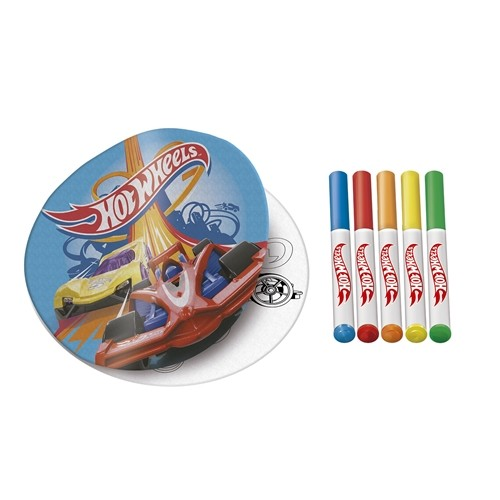 Livro Para Colorir Radical: Pinte e Lave Radical  Hot Wheels - Matte