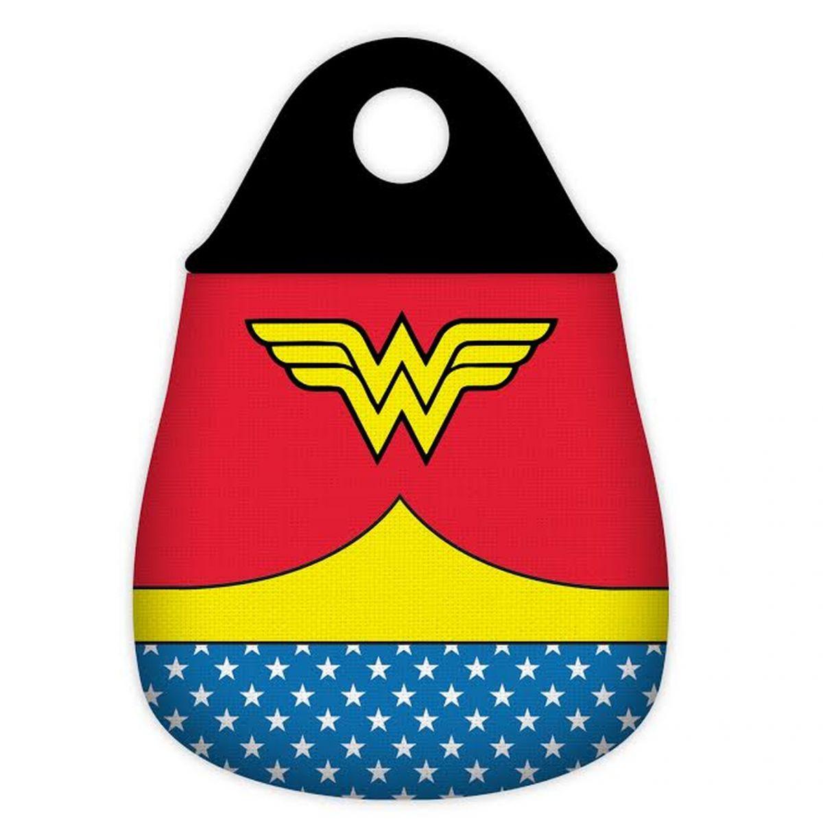 Lixeira de Carro Mulher Maravilha (Wonder Woman): DC Comics Uniforme Vermelho - Urban