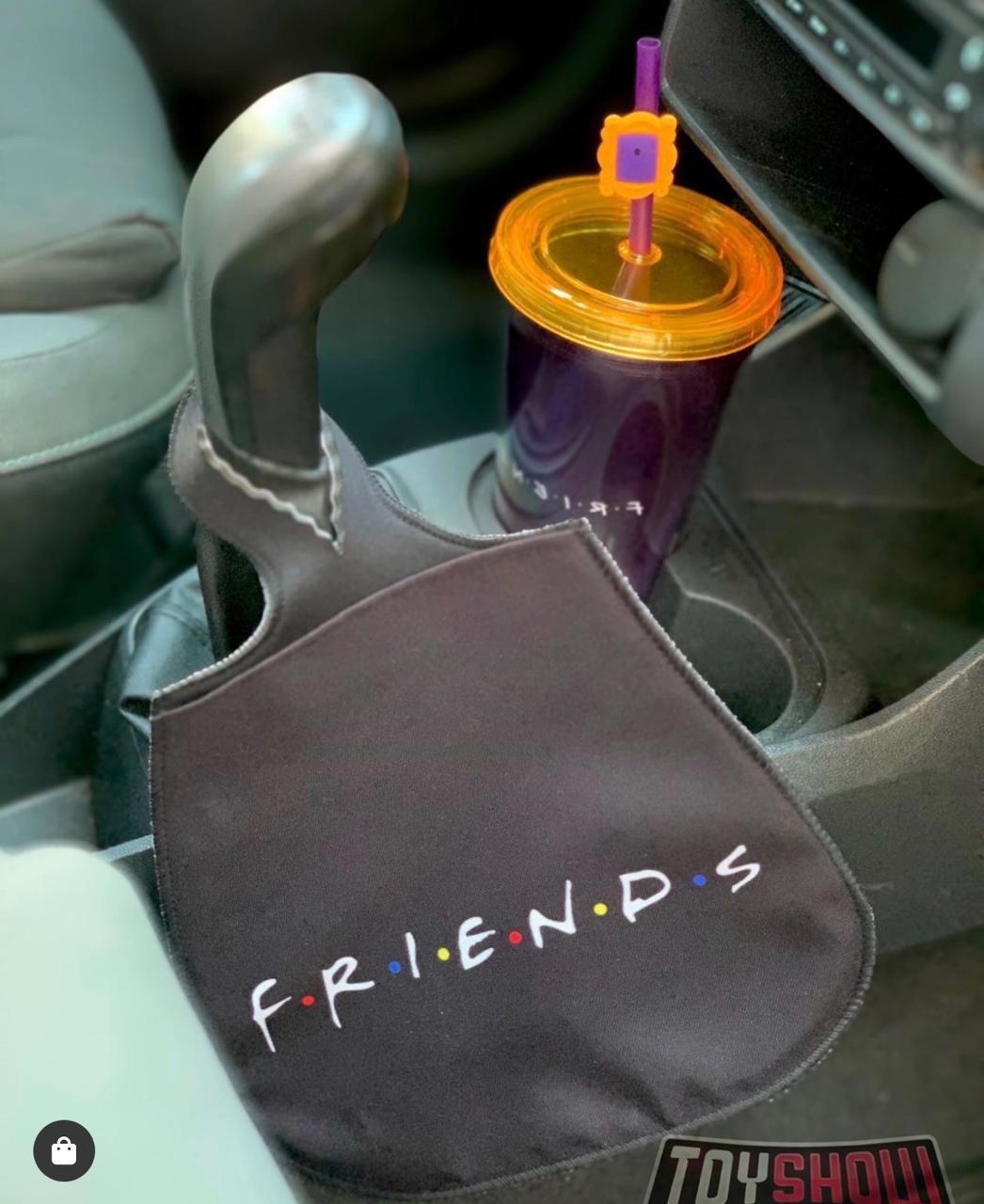 Lixeira de Carro Preta: Friends - EV